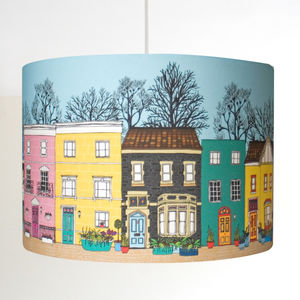 Love Bristol Illustrated Pendant Or Stand Lampshade - lamp bases & shades