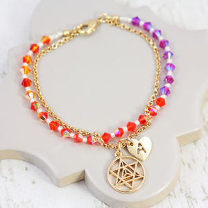 Elements Bead Bracelet Made With Swarovski Beads - bracelets & bangles