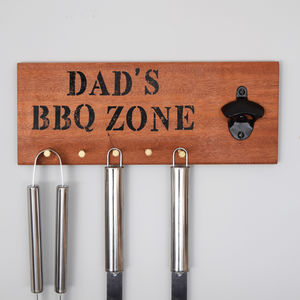 Personalised Bbq Tool Holder Accessory Rack For Dads - children's room accessories