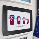 Personalised Family Football Shirt Print