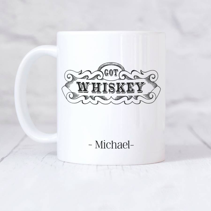 Personalised Vintage Style 'Got Whiskey' Mug