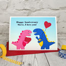 'Dinosaurs' Personalised Birthday / Anniversary Card