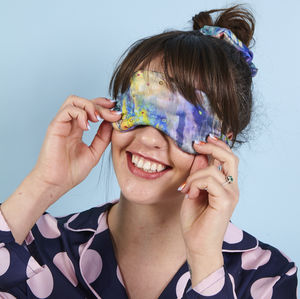 Colourful Silk Eye Mask And Scrunchie Gift Set