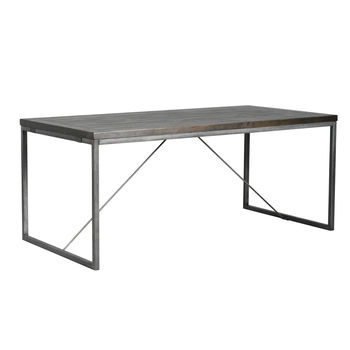 Hadley Charcoal And Pewter Dining Table Extendable
