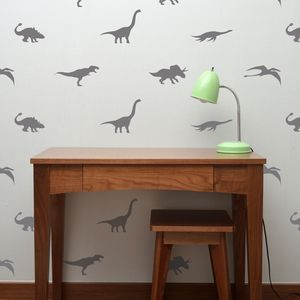 Contemporary Mini Dinosaur Wall Stickers - children's room