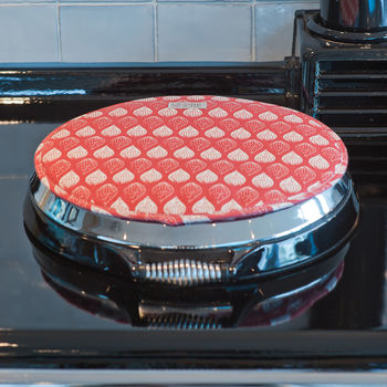 Isabella Red Organic Hob Cover