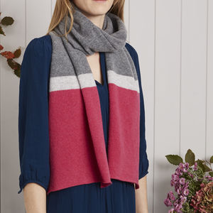 Block Stripe Scarf - womens