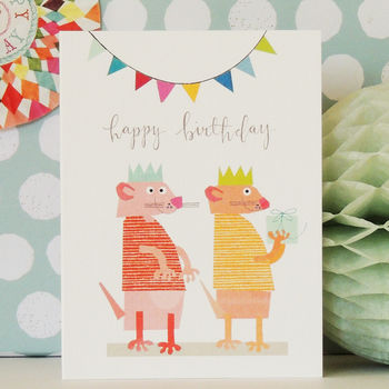 Happy Birthday Meerkat Mini Card