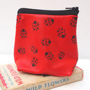 Ladybird Leather Pouch Purse