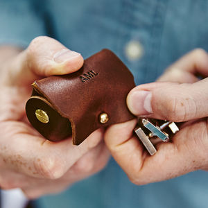 Leather Pouch For Cufflinks - bedroom