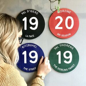 Personalised Ski Resort Piste Marker Sign
