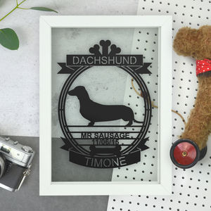 Personalised Dog Papercut