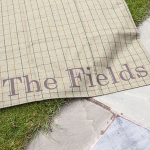 Personalised Tweed Picnic Blanket - anniversary gifts for the garden
