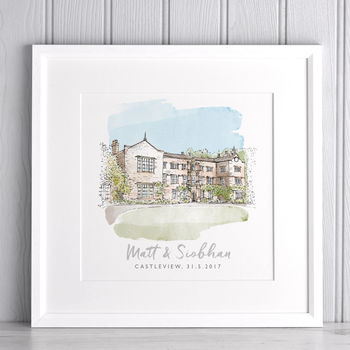 Personalised Wedding Watercolour sketch
