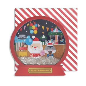 Christmas Fairground Snow Globe Card
