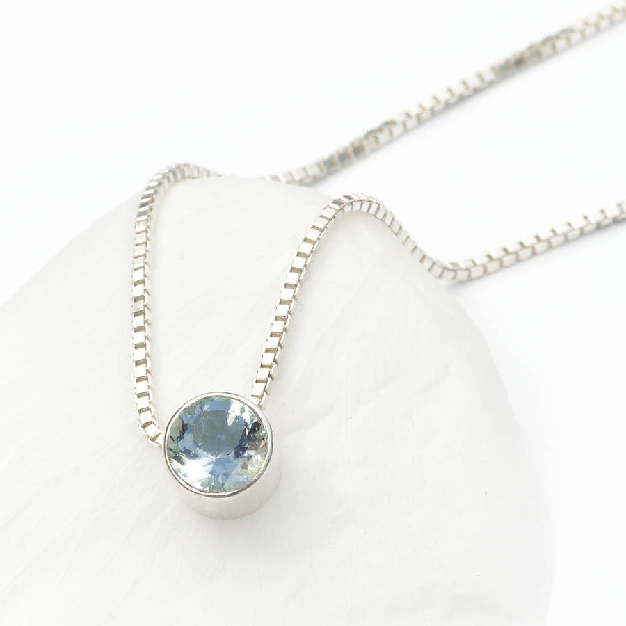 Aquamarine Necklace March Birthstone By Lilia Nash Jewellery   Notonthehighstreet