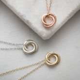 Personalised 9ct Gold Mini Russian Ring Necklace - fine jewellery