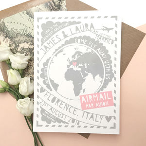 Come Fly Away With Us Travel Wedding Invitation - invitations