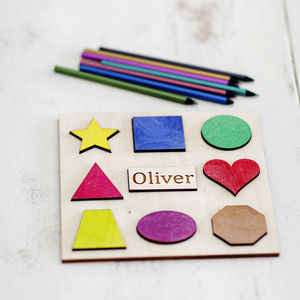 Personalised Geometric Shapes Sorting Puzzle - board games & puzzles