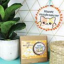 Snuggle Monster Cat Cross Stitch Craft Kit
