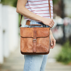 Leather Day Bag - satchels