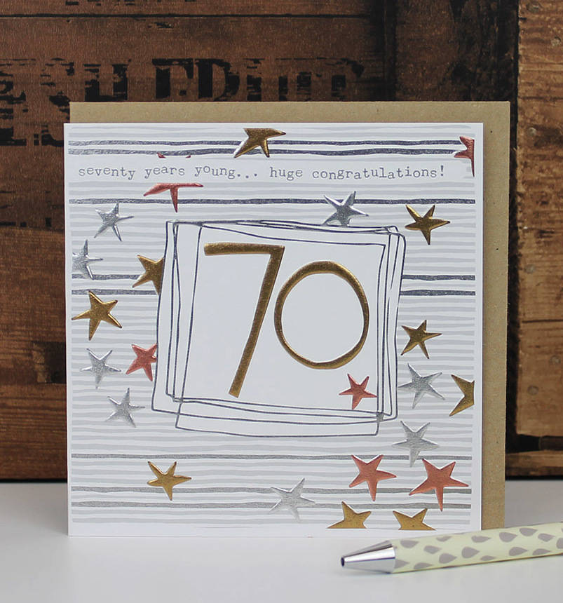 70th Birthday Card Male Female