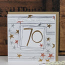 70th Birthday Card Male/ Female
