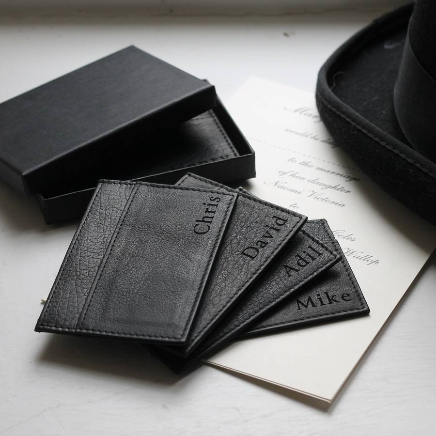 Personalised leather card holder by nv london calcutta personalised leather card holder reheart Images