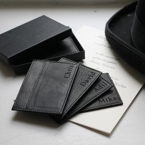 Men's Leather Card Holder - special work anniversary gifts