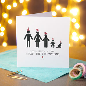 Personalised 10 Pack Of Family Christmas Cards - cards