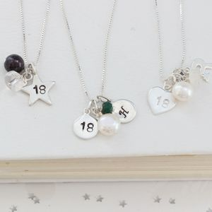 Personalised 18th Birthday Necklace - necklaces & pendants