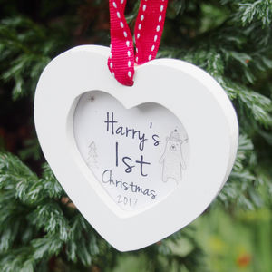 Personalised Baby's 1st Christmas Tree Decoration - personalised