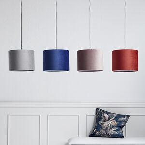 Velvet Drum Lampshade