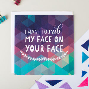'Rub My Face' Anniversary And Friendship Card - wedding, engagement & anniversary cards