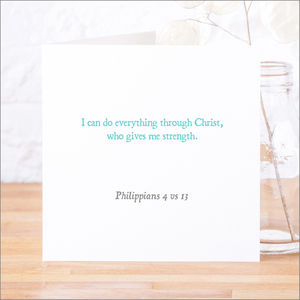'I Can Do Everything' Classic Bible Verse Card