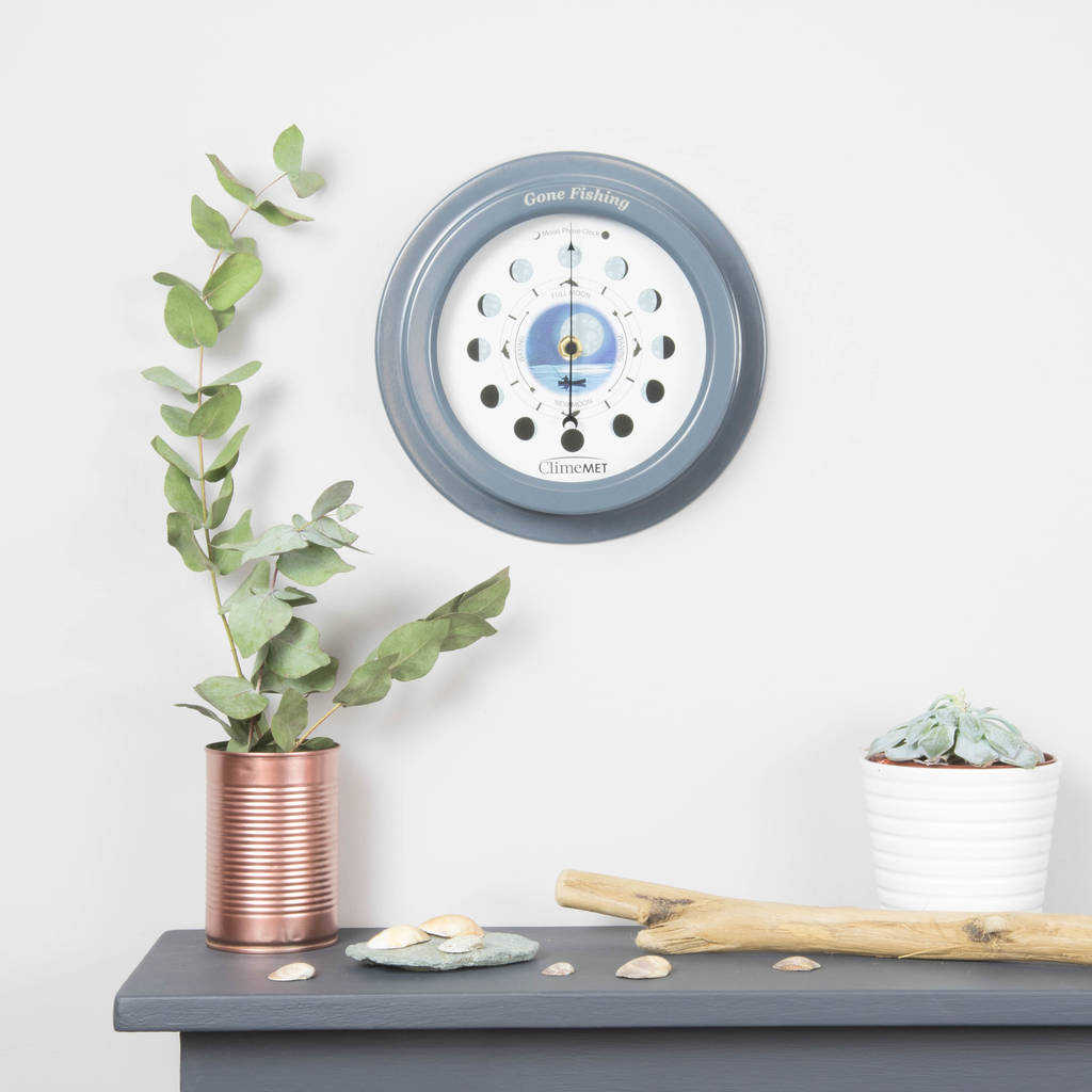 Personalised Night Fishing Moon Phase Clock personalised
