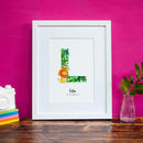 Personalised Children's Initial And Animal Print