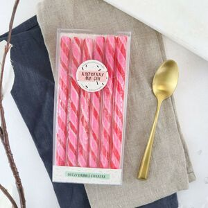 Alcoholic Raspberry Gin Edible Drink Stirrers