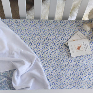 Liberty Print Fitted Sheet In Nina - baby's room