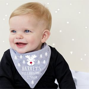 First Christmas Dinner Bandana Bib - baby & child christmas clothing