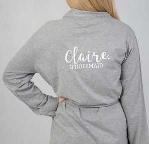Personalised Jersey Robe Perfect For Bridesmaids