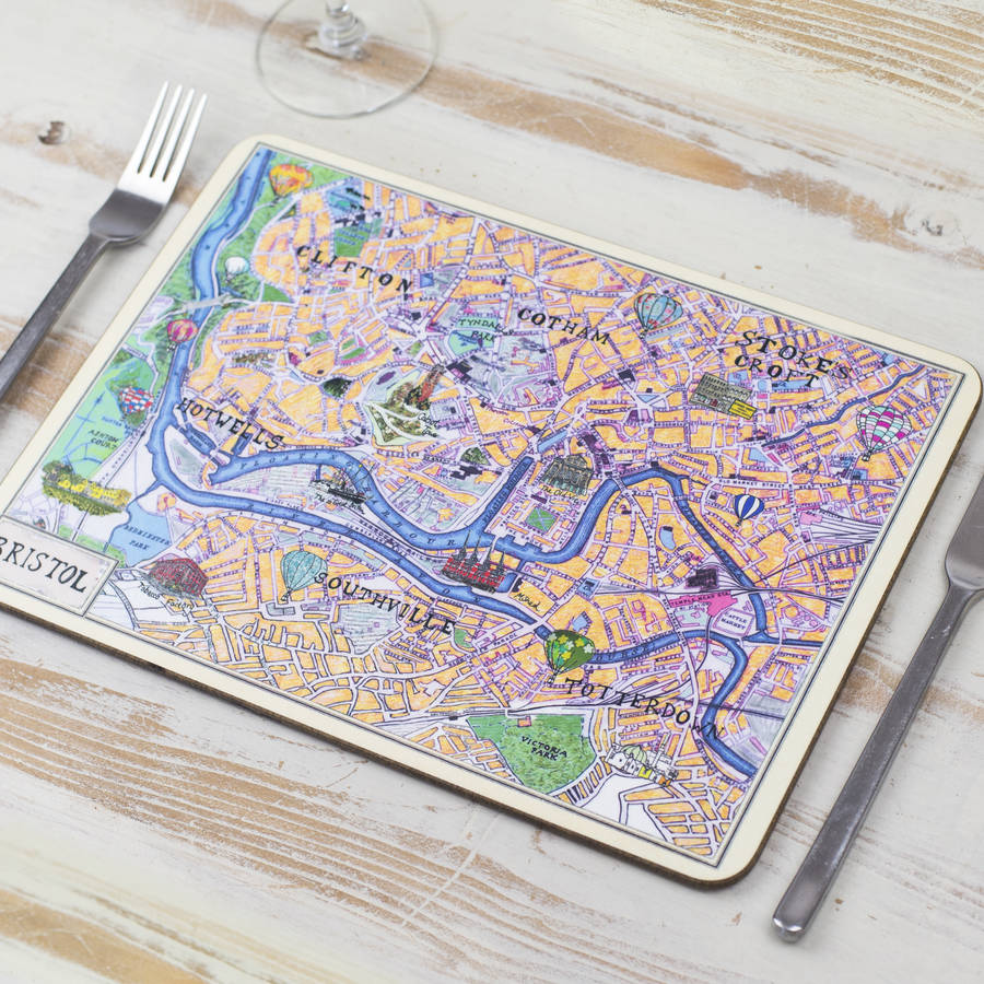 Bristol Map Placemat