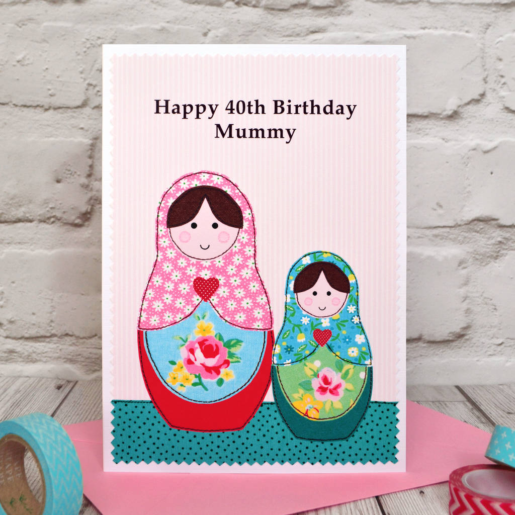 Personalised Russian Dolls Birthday Card By Jenny Arnott Cards And Gifts
