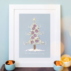 Personalised Family Christmas Tree Print