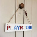 Children's Playroom Wooden Sign Door Plaque