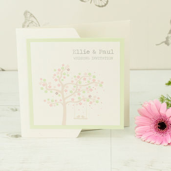 Olivia Pocketfold Wedding Invitation