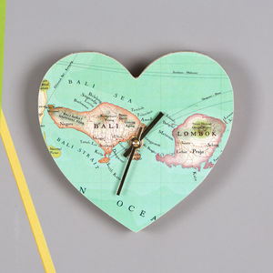 Personalised Map Location Heart Wall Clock Wedding Gift