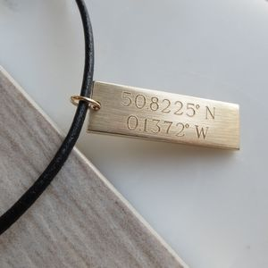 Personalised Brass Tag Necklace