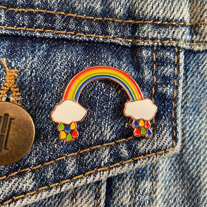 Bright Rainbow Pin Badge