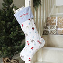 Personalised Festive Character Christmas Stocking
